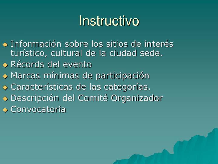 Información sobre los sitios de interés turístico, cultural de la ciudad sede.