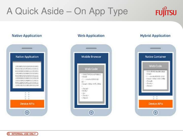 A Quick Aside – On App Type