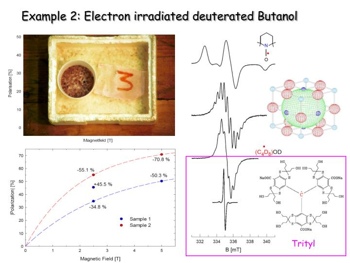Example 2: Electron irradiated deuterated Butanol