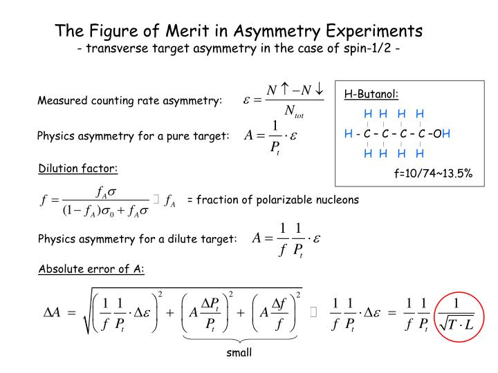 The Figure of Merit in Asymmetry Experiments