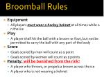 broomball rules