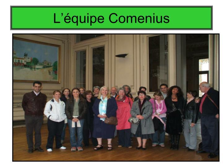 L'équipe Comenius
