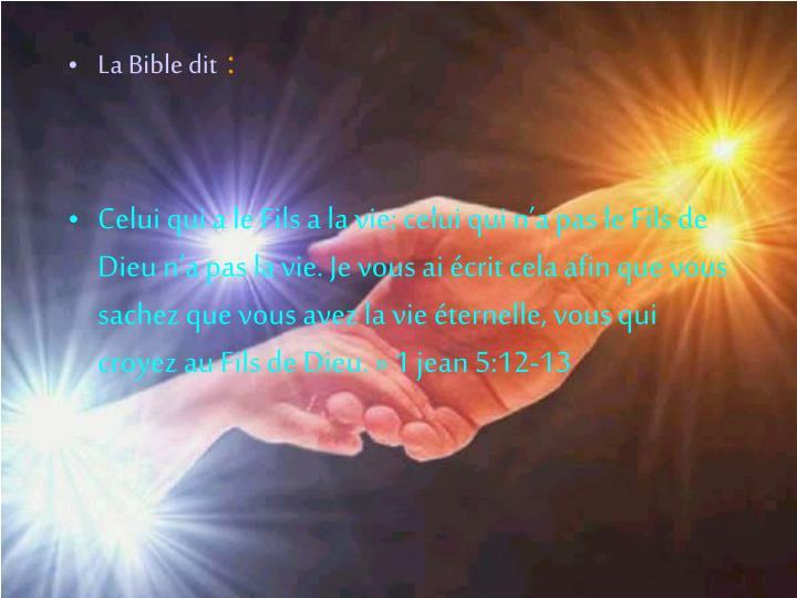 La Bible dit