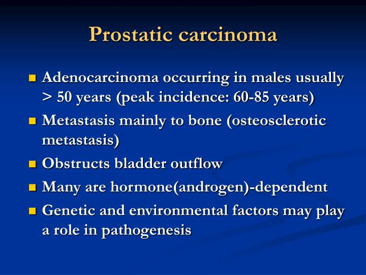 Prostatic carcinoma