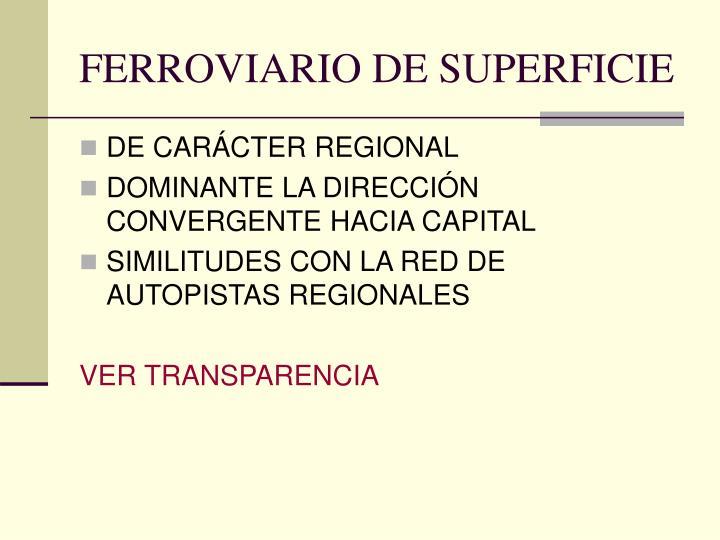 FERROVIARIO DE SUPERFICIE