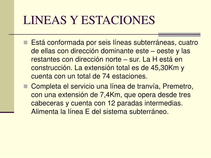 LINEAS Y ESTACIONES