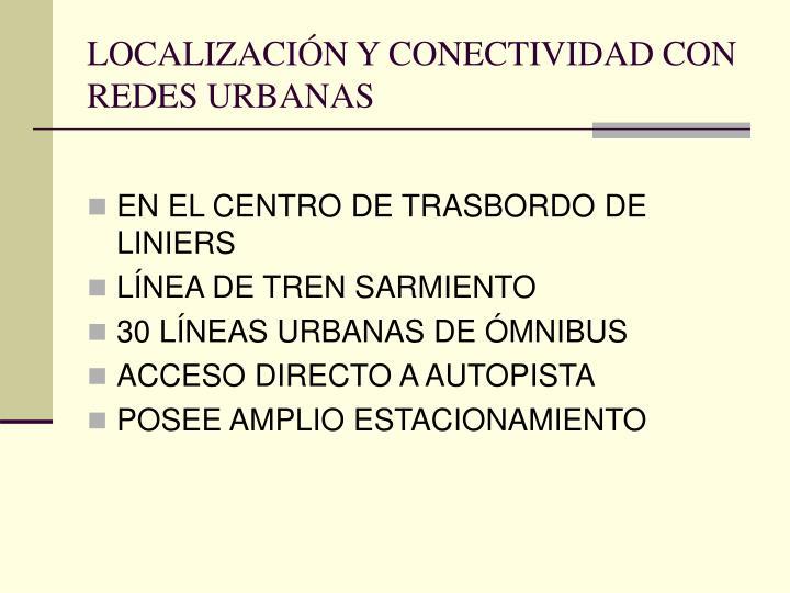 LOCALIZACIÓN Y CONECTIVIDAD CON REDES URBANAS