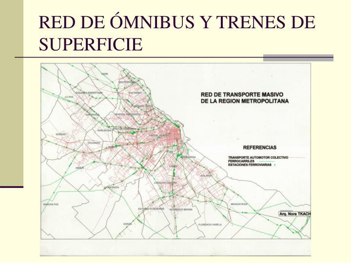 RED DE ÓMNIBUS Y TRENES DE SUPERFICIE