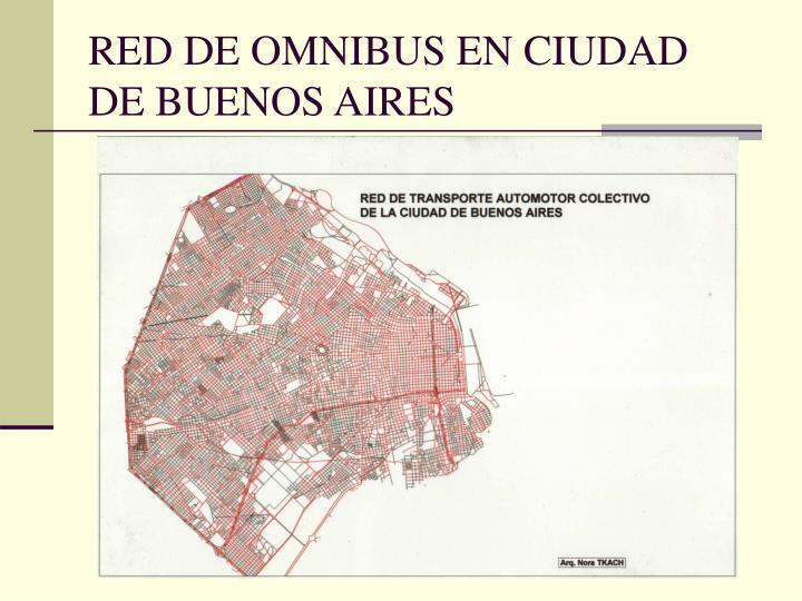 RED DE OMNIBUS EN CIUDAD DE BUENOS AIRES