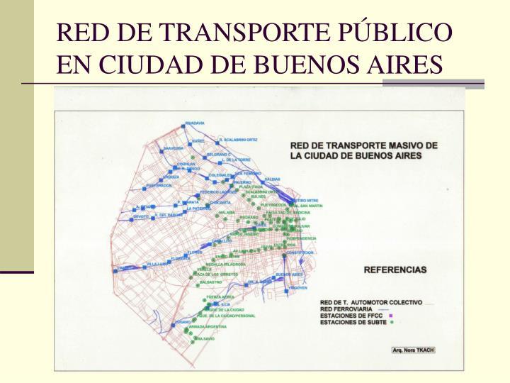 RED DE TRANSPORTE PÚBLICO EN CIUDAD DE BUENOS AIRES