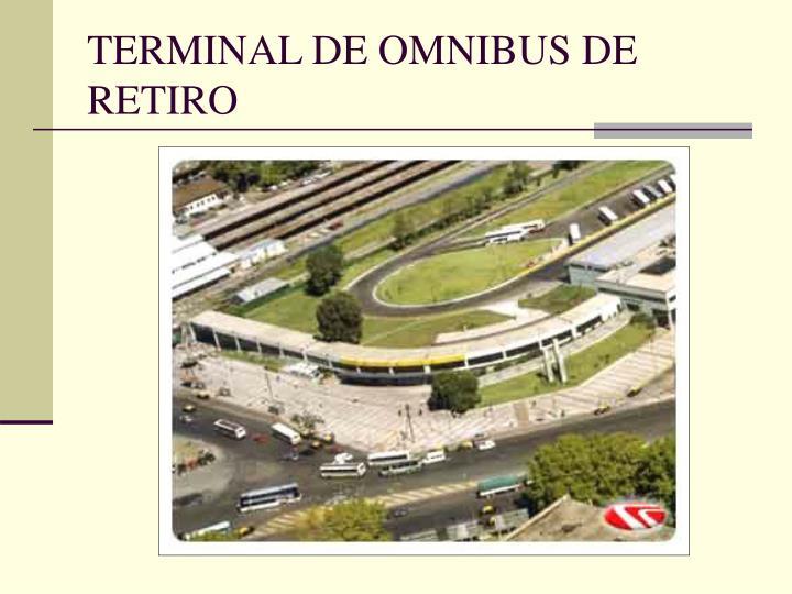 TERMINAL DE OMNIBUS DE RETIRO