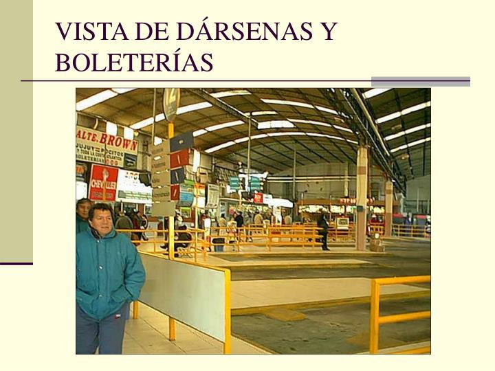 VISTA DE DÁRSENAS Y BOLETERÍAS