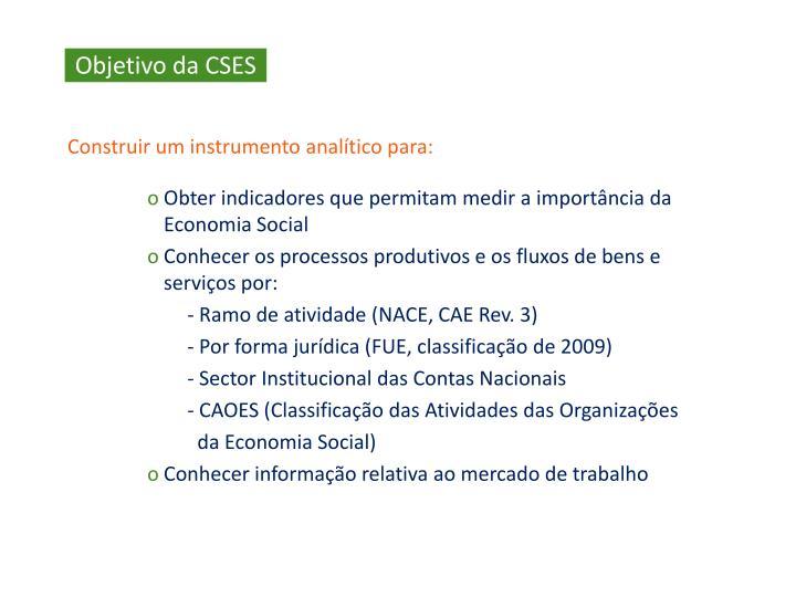 Objetivo da CSES
