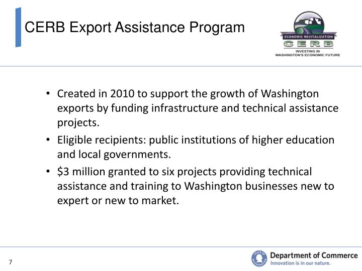 CERB Export Assistance Program