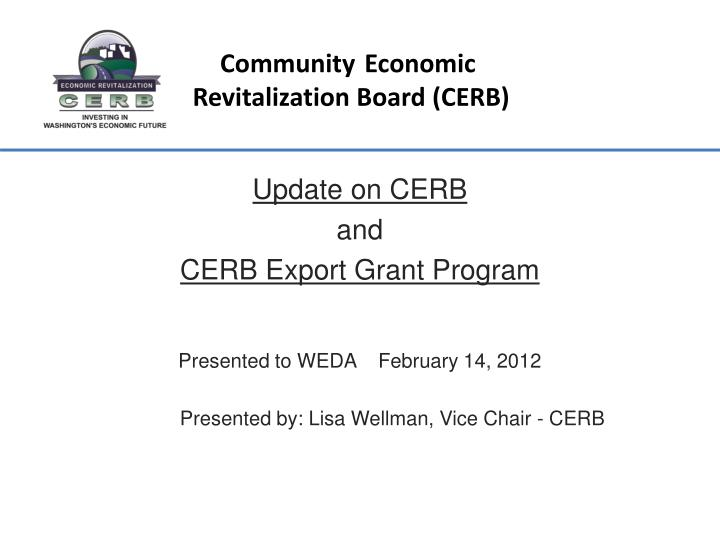 Community economic revitalization board cerb