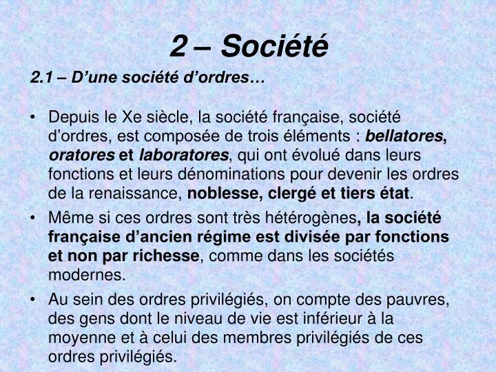 2  Socit