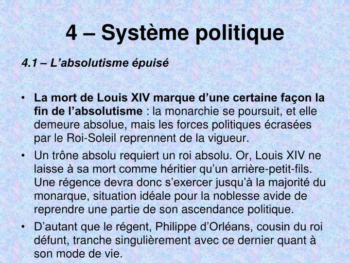 4  Systme politique