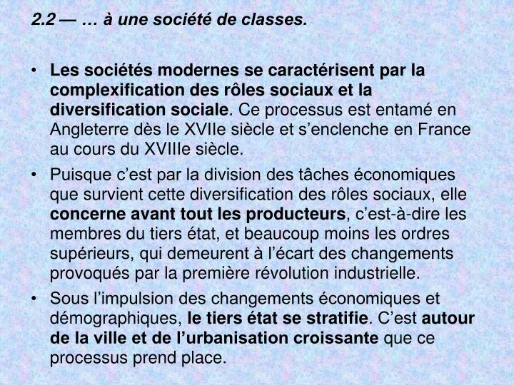 2.2    une socit de classes.