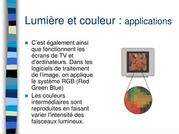 Lumière et couleur :