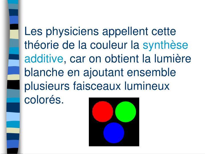 Les physiciens appellent cette théorie de la couleur la