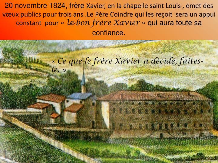 20 novembre 1824, frre