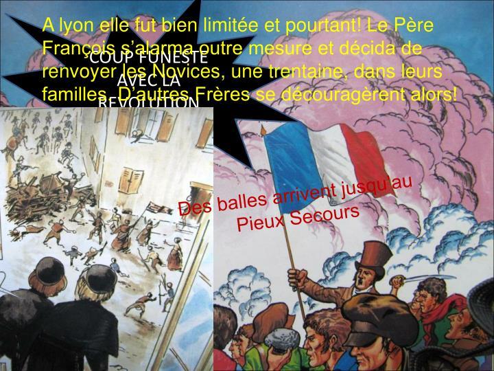 COUP FUNESTE AVEC LA REVOLUTION        DE 1830
