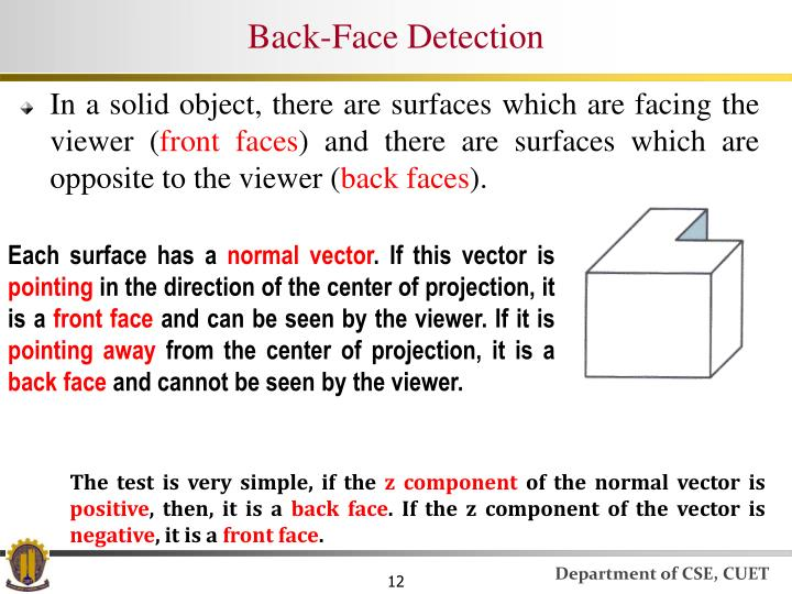Back-Face Detection