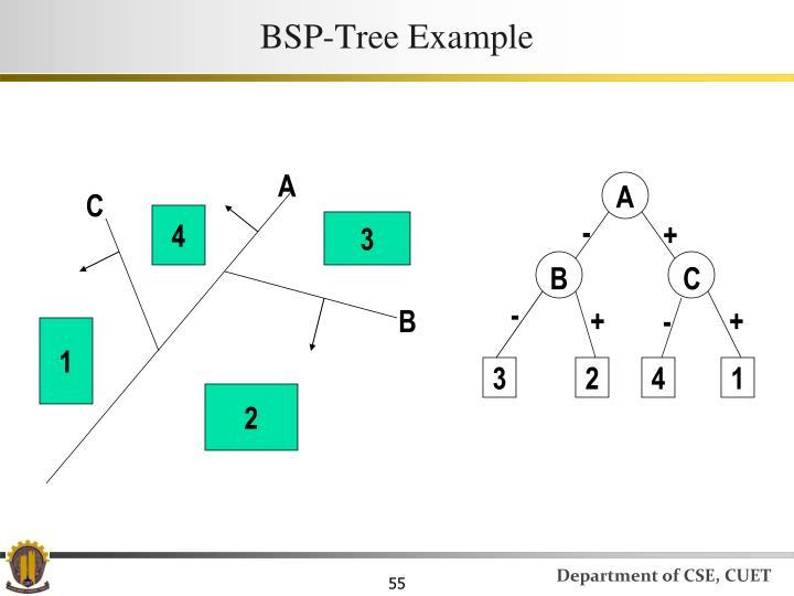 BSP-Tree Example