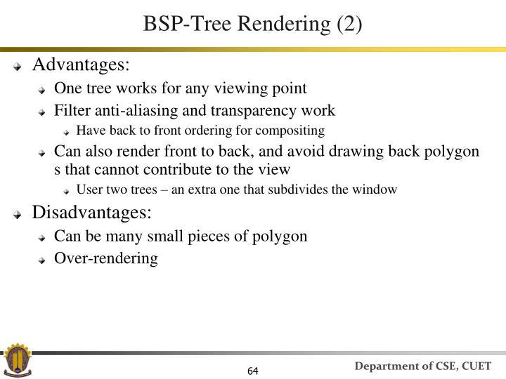BSP-Tree Rendering (2)