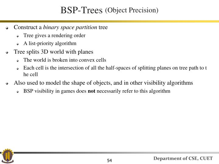 BSP-Trees