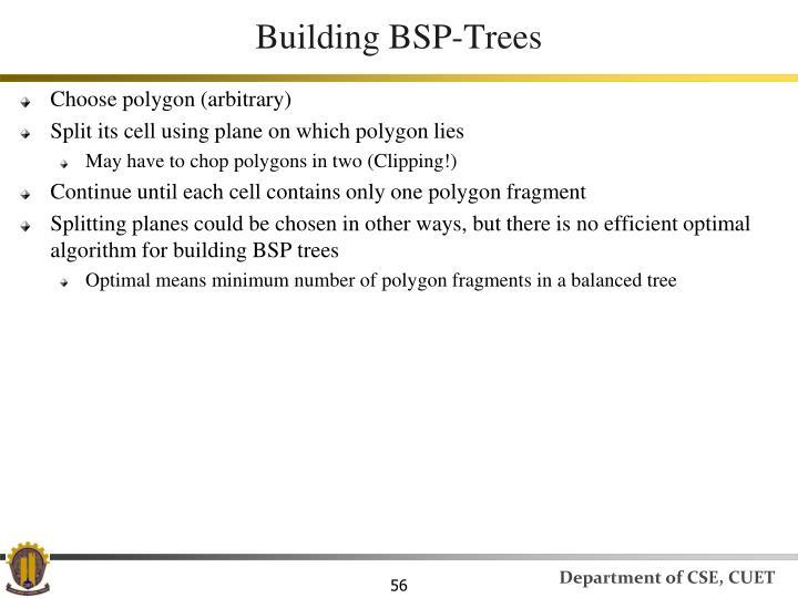 Building BSP-Trees