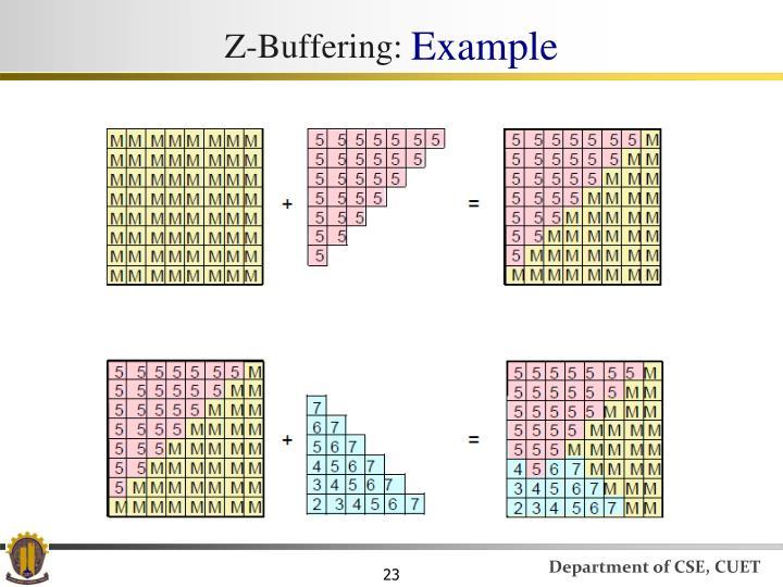 Z-Buffering: