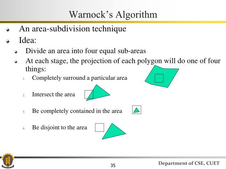 An area-subdivision technique