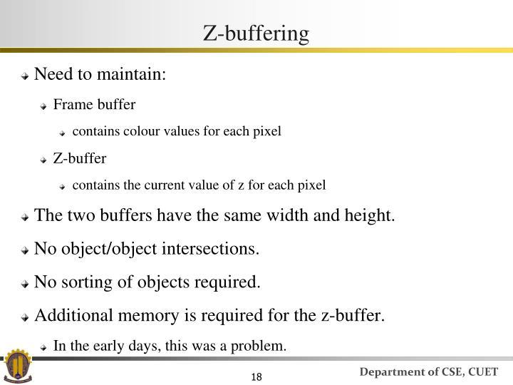 Z-buffering