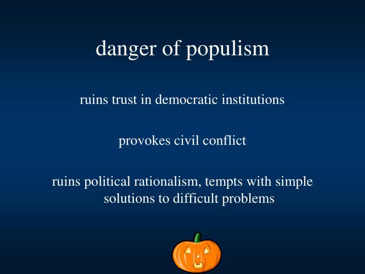 ruins trust in democratic institutions