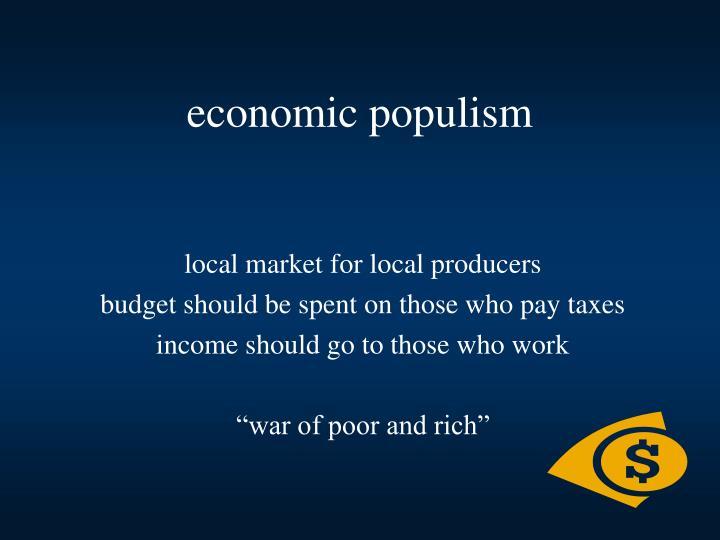 economic populism
