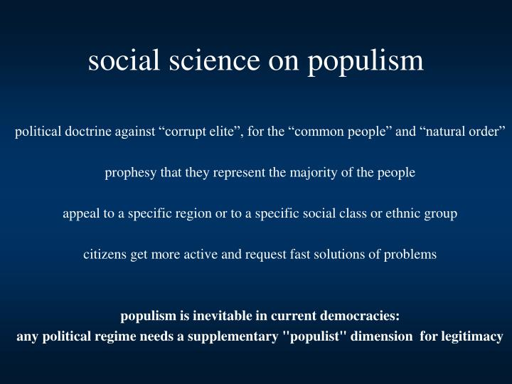 social science on populism