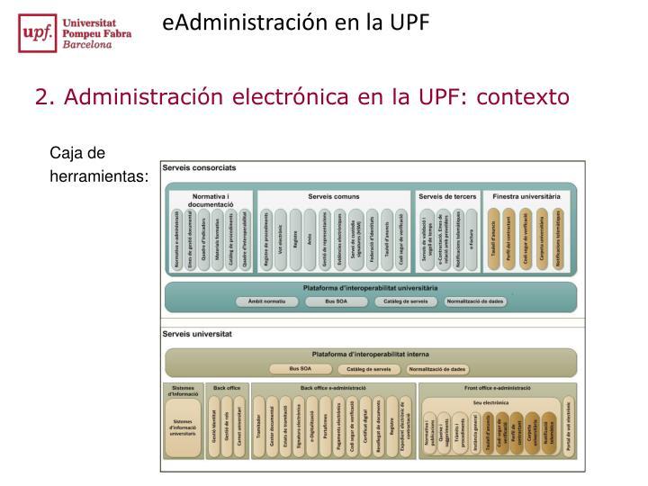 eAdministración en la UPF