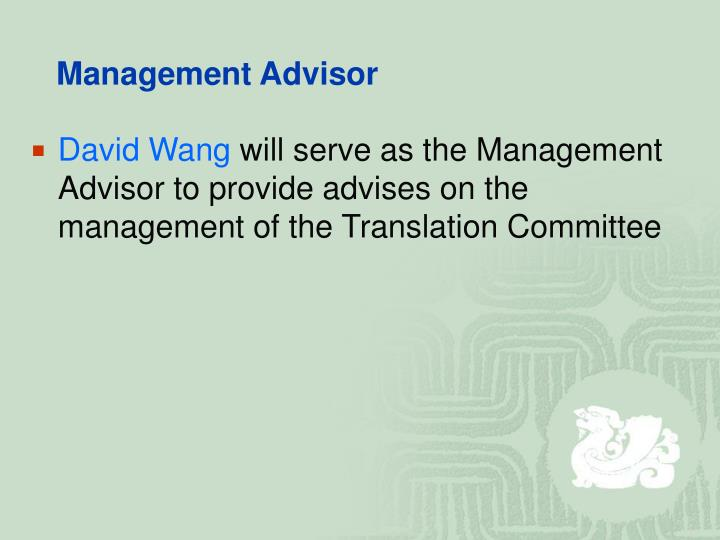 Management Advisor