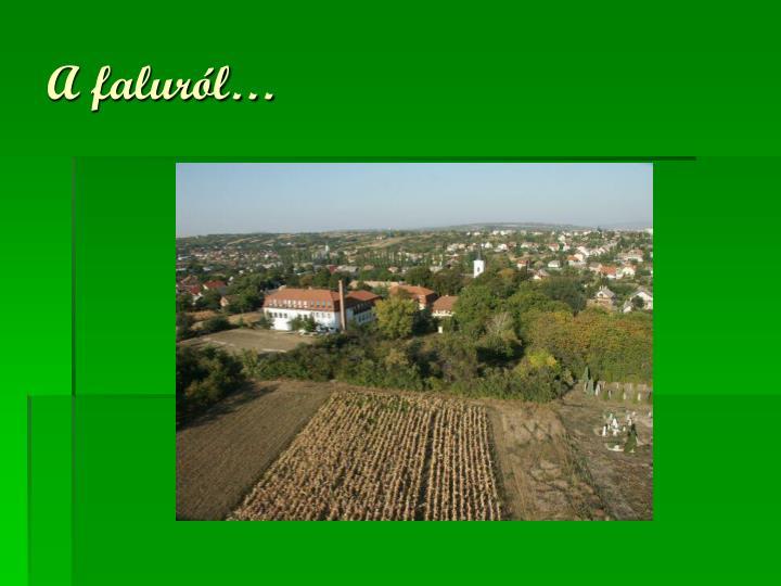 A faluról…