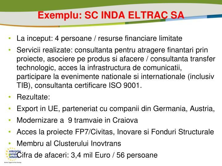 Exemplu: SC INDA ELTRAC SA