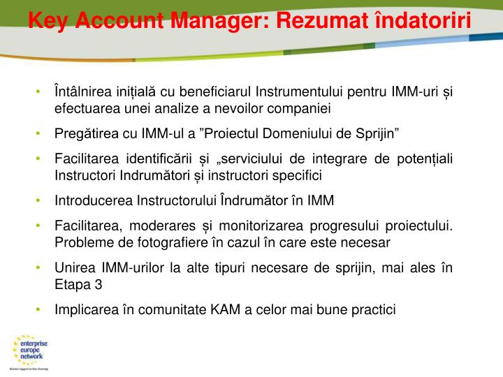 Key Account Manager: