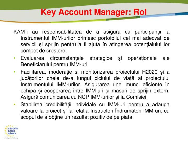 Key Account Manager: Rol