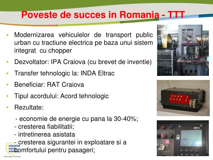 Poveste de succes in Romania - TTT