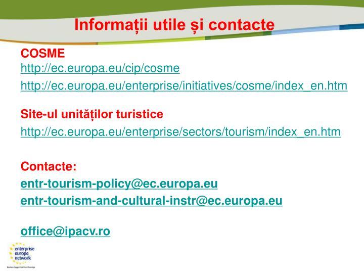 Informații utile și contacte
