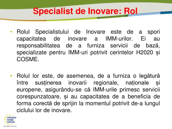 Specialist de Inova