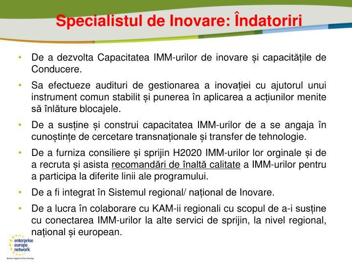 Specialistul de Inova