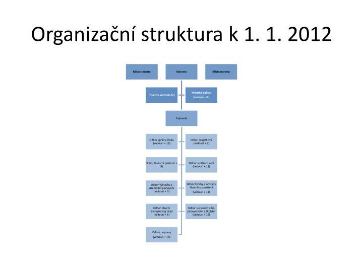 Organizační struktura k 1. 1. 2012
