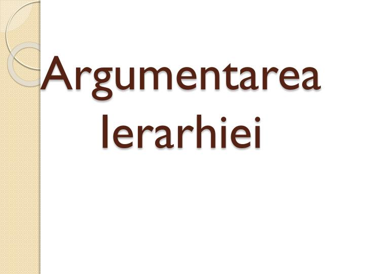 Argumentarea