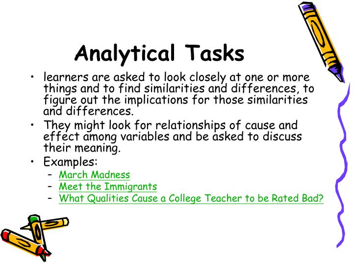 Analytical Tasks